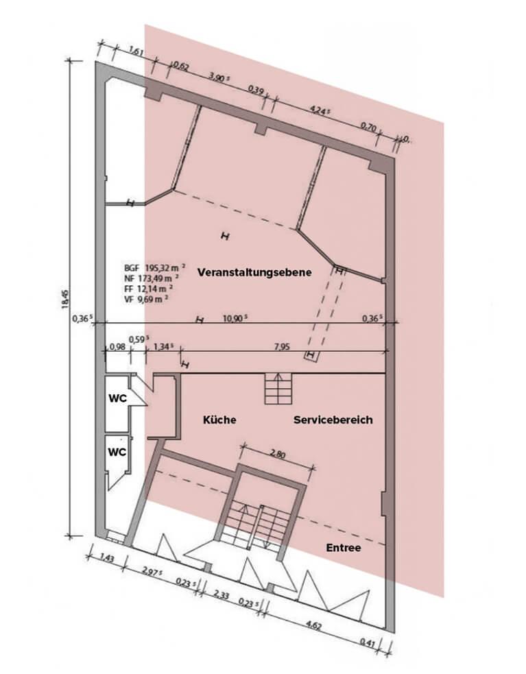 Workshopraum Seminarraum Köln Südstadt buchen - Fläche flexibel und individuell nutzbar